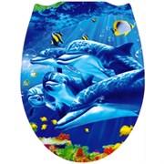 Сиденье для унитаза Дельфин, пластиковое