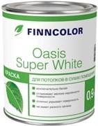 Краска OASIS SUPER WHITE, вододисперсионная,  для потолков в сухих помещениях, матовая, супербелая, 0.9л