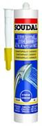 Герметик силиконовый SOUDAL 300мл санитарный прозрачный