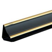 Плинтус ПВХ черный золото 3,0 м