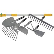 Набор садовый PALISAD 6 предметов  со съёмной телескопической ручкой